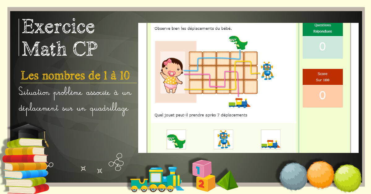 Programme de CP – Exercices de Math